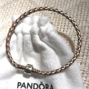 Pandora Moments Woven Leather Bracelet